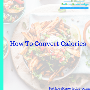 How To Convert Calories 1